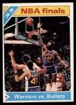 1975 Topps #189   NBA Finals Front Thumbnail