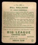1933 Goudey #200  Bill Hallahan  Back Thumbnail