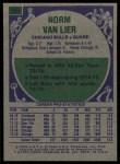1975 Topps #155  Norm Van Lier  Back Thumbnail