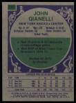 1975 Topps #141  John Gianelli  Back Thumbnail