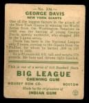 1933 Goudey #236  George Davis  Back Thumbnail