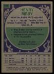 1975 Topps #146  Henry Bibby  Back Thumbnail