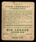 1933 Goudey #77  Adam Comorosky  Back Thumbnail