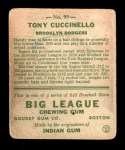 1933 Goudey #99  Tony Cuccinello  Back Thumbnail