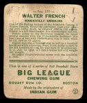 1933 Goudey #177  Walter French  Back Thumbnail