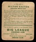 1933 Goudey #65  Milt Gaston  Back Thumbnail