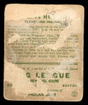 1933 Goudey #96  Willis Hudlin  Back Thumbnail