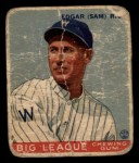 1933 Goudey #134  Sam Rice  Front Thumbnail