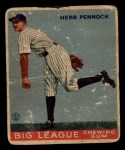 1933 Goudey #138  Herb Pennock  Front Thumbnail