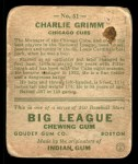 1933 Goudey #51  Charlie Grimm  Back Thumbnail