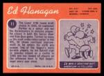 1970 Topps #11  Ed Flanagan  Back Thumbnail