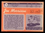 1970 Topps #105  Joe Morrison  Back Thumbnail