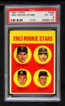 1963 Topps #299   -  Dave Morehead / Tom Butters / Dan Schneider / Bob Dustal Rookie Stars   Front Thumbnail