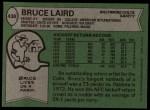1978 Topps #438  Bruce Laird  Back Thumbnail
