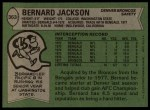 1978 Topps #363  Bernard Jackson  Back Thumbnail
