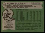 1978 Topps #368  Norm Bulaich  Back Thumbnail