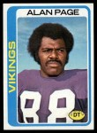 1978 Topps #406  Alan Page  Front Thumbnail