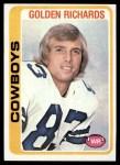 1978 Topps #494  Golden Richards  Front Thumbnail