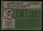 1978 Topps #24  Danny White  Back Thumbnail