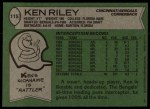 1978 Topps #115  Ken Riley  Back Thumbnail