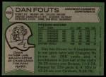 1978 Topps #499  Dan Fouts  Back Thumbnail