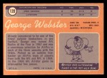 1970 Topps #120  George Webster  Back Thumbnail