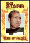 1971 Topps Posters #10  Bart Starr  Front Thumbnail