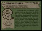 1978 Topps #351  Mike Webster  Back Thumbnail