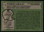 1978 Topps #217  Fred Dean  Back Thumbnail