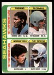 1978 Topps #526   Seahawks Leaders Checklist Front Thumbnail