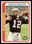 1978 Topps #365  Ken Stabler  Front Thumbnail
