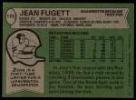 1978 Topps #175  Jean Fugett  Back Thumbnail