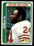 1978 Topps #264  Delvin Williams  Front Thumbnail