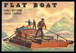 1955 Topps Rails & Sails #144   Flat Boat Front Thumbnail