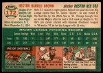1954 Topps #172  Hal Brown  Back Thumbnail