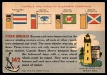 1955 Topps Rails & Sails #142   Charles H. West Back Thumbnail
