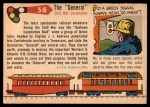 1955 Topps Rails & Sails #56   The General Back Thumbnail