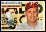 1956 Topps #275  Jim Greengrass  Front Thumbnail