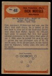 1955 Bowman #48  Dick Moegle  Back Thumbnail