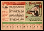 1955 Topps #168  Duane Pillette  Back Thumbnail