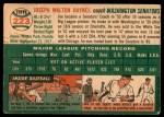 1954 Topps #223  Joe Haynes  Back Thumbnail