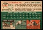 1954 Topps #192  Cot Deal  Back Thumbnail
