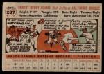 1956 Topps #287  Bobby Adams  Back Thumbnail