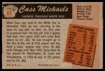 1955 Bowman #85  Cass Michaels  Back Thumbnail