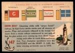 1955 Topps Rails & Sails #147   Show Boat Back Thumbnail