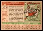1955 Topps #177  Jim Robertson  Back Thumbnail