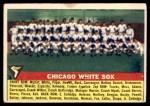 1956 Topps #188   White Sox Team Front Thumbnail