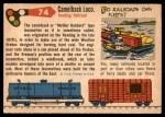 1955 Topps Rails & Sails #74   Wootten Camelback Back Thumbnail