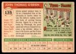1955 Topps #135  John O'Brien  Back Thumbnail