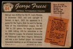 1955 Bowman #84  George Freese  Back Thumbnail